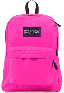 Mochila Jansport Superbreak Ultra - Unissex-Pink+Rosa