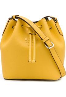 Dkny Bolsa Saco Com Cordão De Ajuste - Amarelo