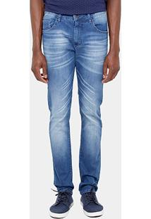 Calça Jeans Slim Sommer Matheus Stone Elastano Masculina - Masculino