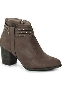 Ankle Boots Feminina Bebecê Taupe