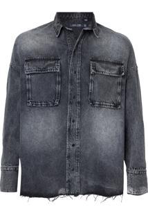 Camisa John John Russia Jeans Preto Masculina (Jeans Black Medio, M)