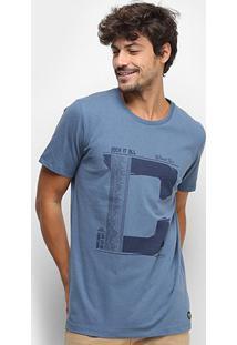 Camiseta Colcci World Tour Masculina - Masculino-Azul Escuro