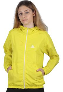 Jaqueta Corta Vento Feminina Additive Logo Amarela