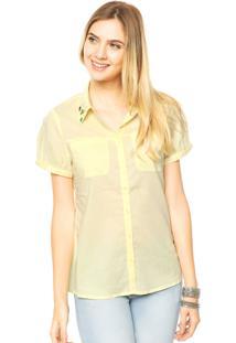 Camisa Mooncity Pedrarias Amarela