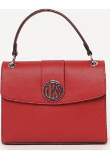 Bolsa Texturizada- Vermelha- 19X24X8Cm- Guessguess