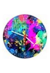 Relógio De Parede Abstrato Arte Moderna Colorido Salas Decorações