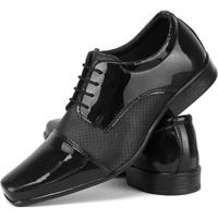 d58c4c0da Sapato Social Oxford Sapatofran Sintético Verniz Masculino - Masculino-Preto