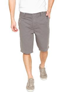 Bermuda Sarja Calvin Klein Jeans Chino Cinza