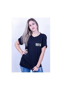 Camiseta Bilhan Corte A Fio 90´S Pqn Preta