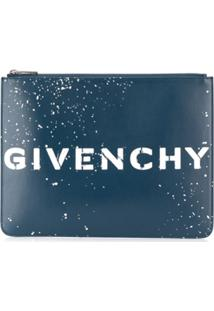 Givenchy Printed Logo Clutch Bag - Azul