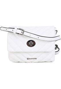 Bolsa Dumond Mini Bag Soft Vitelino Matelasse Pequena Feminina - Feminino-Off White