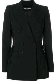 Dolce & Gabbana Blazer Com Amarrações - Preto