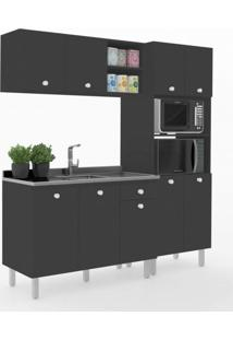 Cozinha Compacta 3 Peças Vedere Preto Tx