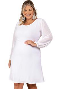 Vestido Branco Plus Size
