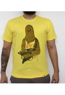 Chewbacca Headbanger - Camiseta Clássica Masculina