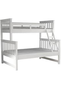 Beliche De Casal Estação De Dormir Branco Lavado