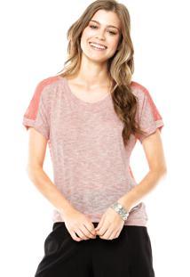 Camiseta Facinelli Renda Coral