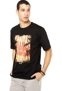 Camiseta West Coast Abstrata Preta