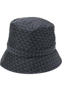 Emporio Armani Chapéu Bucket Com Estampa Monogramada - Preto