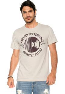 Camiseta Fiveblu Manga Curta Another Frequency Bege
