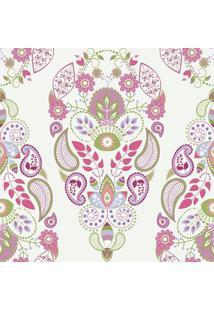Papel De Parede Adesivos Floral Moderno (0,58M X 2,50M)