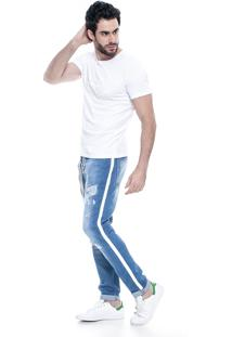 Calça Jeans Dialogo Jeans Cropped Azul
