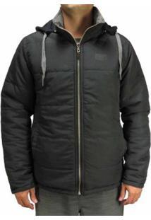 Jaqueta Especial Dupla Face Freesurf Masculino - Masculino-Preto+Cinza