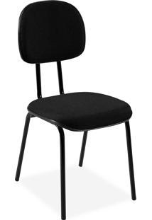 Cadeira Secretã¡Ria Injetada Base Fixa Tu Preta - Preto - Dafiti
