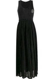 Diesel Pleated Skirt Dress - Preto