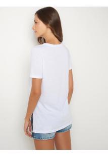 Blusa Le Lis Blanc Cassia I Malha Branco Feminina (Branco, Gg)