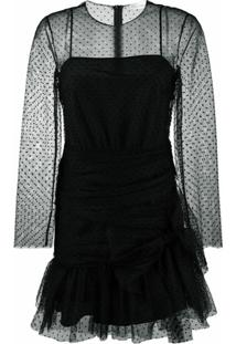Redvalentino Vestido Com Tule - Preto
