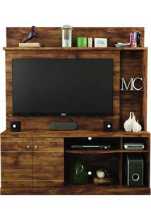 Home Curve Com 2 Portas Em Mdf E Mdp Ideal Para Tv Jatoba Caemmun