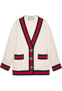 Gucci Cardigan Oversized De Tweed - Neutro
