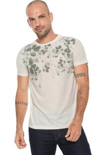 Camiseta Aramis Floral Off-White