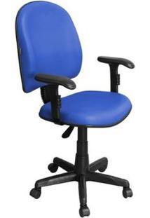 Cadeira De Escritório Excellence Pegbd Executiva Giratória Braços Reguláveis Azul - Pethiflex