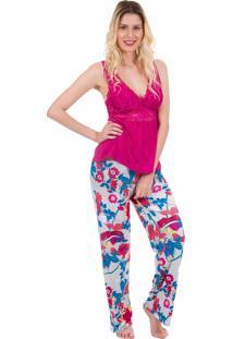 Pijama Longo Inspirate Pink Com Regata