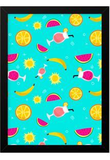Quadro Adoraria A3 Textura Multicolorido