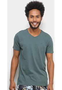 Camiseta Ellus Básica Manga Curta Masculina - Masculino-Verde Escuro