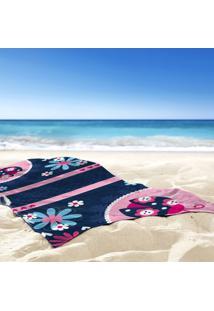 Toalha De Praia / Banho Joaninha E Flores