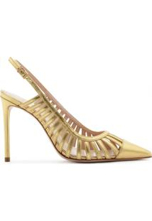 Scarpin Slingback Cut-Out Gold | Schutz