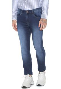 Calça Jeans Cavalera Slim Five Pockets Azul