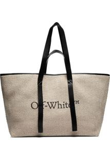 Off-White Bolsa Tote Com Estampa De Logo Commercial - Neutro