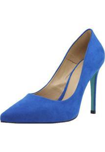Scarpin Shepz Suede Azul - Azul - Feminino - Dafiti