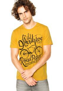 Camiseta Colcci Manga Curta Estampa Amarela