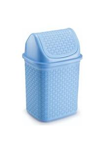 Lixeira Para Cozinha De Plástico Com Basculante 4,5 L Azul