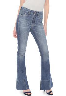 Calça Jeans Carmim Flare Malta Azul