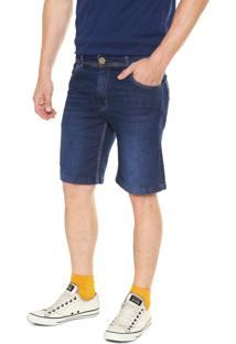 Bermuda Jeans Fiveblu Reta Azul