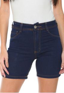 Bermuda Jeans Biotipo Slim Barra Italiana Azul