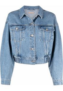 12 Storeez Jaqueta Jeans Cropped - Azul