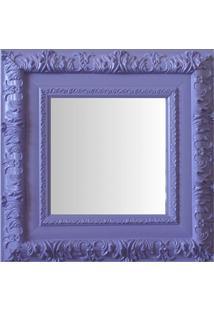 Espelho Moldura Rococó Externo 16357 Lilás Art Shop